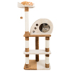 4 Tier Cat Tree- Plush Multi-Level Cat Tower with Sisal Scratching Posts, Perch, Cat Condo and Hanging Toy for Cats and Kittens By PETMAKER (47.5?)