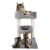 3 Tier Cat Tree- Plush Multi-Level Cat Tower with Sisal Scratching Posts and Perch Style Beds for Cats and Kittens By PETMAKER (23?)