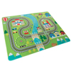 Baby Play Mat for Kids, Microfiber Flannel Fleece & Foam Mat with Non Slip Back and Train Scene for Toddlers, Boys and Girls by Hey! Play!