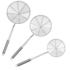 Skimmer Ladle Set-Stainless-Steel Small, Medium, and Large Skimming Spoons for Scooping Pasta, Meatballs, Fried Foods and More by Classic Cuisine