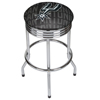 NBA Chrome Ribbed Bar Stool - City  - San Antonio Spurs