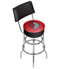 NBA Swivel Bar Stool with Back - City  - Portland Trailblazers