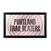 NBA Framed Logo Mirror - Fade  - Portland Trailblazers