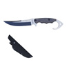 Survival Knife-Tactical Fixed Blade Full Tang Stainless Steel Hunting, Camping, Fishing Knife with Window Breaker Hook Pommel Hand Guard by Whetstone
