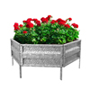 Raised Garden Bed Plant Holder Kit With Adjustable Galvanized Iron For Growing Flowers, Vegetables, Herbs by Pure Garden 21