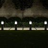 Solar Path Bollard Lights, Set of 6- 15? Stainless Steel Outdoor Stake Lighting for Garden, Landscape, Yard, Driveway, Walkway by Pure Garden (Black)