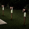 Solar Path Lights- 12.2? Stainless Steel Outdoor Stake Lighting for Garden, Landscape, Patio, Driveway, Walkway- Set of 12 by Pure Garden (Bronze)