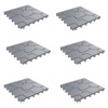 Patio and Deck Tiles ? Interlocking Stone Look Outdoor Flooring Pavers Weather Resistant and Anti-Slip Square DIY Mat by Pure Garden (Grey Set of 6)