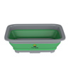 Collapsible Multiuse Wash Bin- Portable Wash Basin/Dish Tub/Ice Bucket with 10 L Capacity for Camping, Tailgating, More by Wakeman Outdoors (Green)