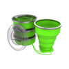 Collapsible Travel Cups- BPA Free, FDA Approved Reusable 6 Oz Drink Cups for Camping, Fishing, Picnics, More by Wakeman Outdoors (4 Pack, Green)