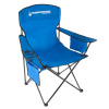 Oversized Camp Chair-300lb. Capacity Big Tall Quad Seat with Cup Holder, Cooler, Carry Bag-Tailgating, Camping, Fishing by Wakeman Outdoors