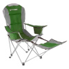 Camp Chair with Footrest-300lb. Capacity Recliner Quad Seat-Cup Holder, Cooler, Carry Bag-Tailgating, Camping, Fishing by Wakeman Outdoors (Green)