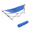 Portable Hammock with Stand-Folds and Fits into Included Carry Bag for Easy Travel-Perfect for Backyard, Pool, Beach, Hiking by Pure Garden -Blue
