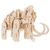 3D Wooden Woolly Mammoth Puzzle-Animal Building Model-Clap Activated Sound and Motion Toy- Fun STEM Learning Activity for Boys and Girls by Hey! Play!