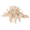 3D Wooden Stegosaurus Puzzle-Dinosaur Building Model-Clap Activated Sound and Motion Toy- Fun STEM Learning Activity for Boys and Girls by Hey! Play!