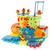 81 Pc. Interlocking Gear Building Set- STEM Learning Toy, Fun Moving Mechanical Construction Blocks-Educational Set for Boys and Girls by Hey! Play!