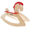 Rocking Horse Ride-on Toy for Children-Classic Wooden Rocker-Helps Develop Strength, Balance and Coordination- Fun for Boys and Girls by Happy Trails