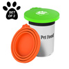Silicone Pet Food Can Lids-Keep Opened Dog or Cat Food Portions Fresh-Fits 3oz., 5.5oz., 12oz., and More-Easy Storage, BPA-Free by Petmaker (Set of 2)
