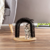 Self Grooming Cat Arch- Bristle Ring Brush and Carpet Base Groomer, Massager, Scratcher for Controlling Shedding, Healthy Fur and Claws by PETMAKER