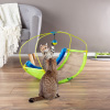 Interactive Cat Toy Rocking Activity Mat- Swing Playing Station with Sisal Scratching Area, Hanging Toy, Rolling Ball for Cats and Kittens by PETMAKER