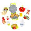Kids Toy Waffle Iron Set with Music and Lights- Fun Pretend Play Waffle Making Kit Includes Waffles, Whisk, Syrup, Milk, Eggs and More by Hey! Play!