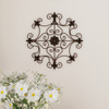 Medallion Metal Wall Art- 14.25 Inch Square Open Edge Metal Home D�cor, Hand Crafted with Distressed Finish- Mounting Screws Included by Lavish Home