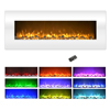 Electric Fireplace Wall Mounted, Color Changing LED Flame and Remote, 50 Inch, By Northwest (White)-AMZ ONLY