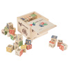 ABC and 123 Wooden Blocks- Alphabet Letters and Numbers Learning Block Set-Educational STEM Toy for Toddlers and Preschool Age Children by Hey! Play!