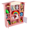 Dollhouse Shaped Bookcase- Cottage Design Furniture for Books or Toys-Storage D�cor Bookshelf for Children?s Bedroom or Playroom by Hey! Play! (Pink)