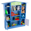 Dollhouse Shaped Bookcase- Cottage Design Furniture for Books or Toys- Storage D�cor Bookshelf for Children?s Bedroom or Playroom by Hey! Play! (Blue)