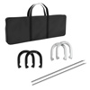 Professional Grade Horseshoe Set- Heavy Duty Set with Carrying Bag, 4 Horse Shoes and 2 Poles for Outdoor Fun for Adults and Kids by Trademark Games