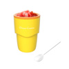 Slushy Maker-Single Serving Frozen Treat Cup for Easy to Make Homemade Slushes, Milkshakes, Smoothies, Cocktails, and More by Classic Cuisine (Yellow)