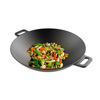 Cast Iron Wok-14? Pre-Seasoned, Flat Bottom Cookware with Handles-Compatible with Stovetop, Oven, Induction, Grill, or Campfire by Classic Cuisine