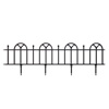 Garden Edging Border- Flower Bed Fencing for Landscaping- Victorian Fence, 4 Piece Set of Black Interlocking Outdoor Lawn Stakes by Pure Garden (8?)