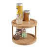 Lazy Susan ? All-Natural Bamboo Round Two Tier Turntable Kitchen, Pantry and Vanity Organizer and Display with 10 Inch Diameter by Classic Cuisine