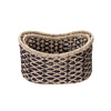 Villacera Bernard Handmade Wicker Water Hyacinth Oval Nesting Baskets in Brown and Natural | 18? x 13? & 16? x 11? | Set of 2