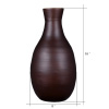 Villacera Handcrafted 16? Tall Brown Bamboo Vase | Decorative Glazed Bottle Neck Vase for Silk Plants, Flowers, Filler Decor | Sustainable Bamboo