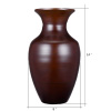 Villacera Handcrafted 14? Tall Brown Bamboo Vase | Decorative Glazed Urn Vase for Silk Plants, Flowers, Filler Decor | Sustainable Bamboo