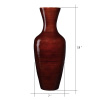 Villacera Handcrafted 18? Tall Brown Bamboo Vase | Decorative Jar Vase for Silk Plants, Flowers, Filler Decor | Sustainable Bamboo