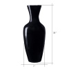 Villacera Handcrafted 18? Tall Black Bamboo Vase | Decorative Jar Vase for Silk Plants, Flowers, Filler Decor | Sustainable Bamboo