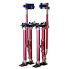Drywall Stilts ? Adjustable 18-30-inch Aluminum Stilt Lifts with Rubber Soles, Leg Bands, Self-Locking Buckles, 228lb Capacity by Pentagon Tools (Red)