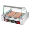 30 Hot Dog Roller Machine-11 Rollers, Glass Sneeze Guard Cover, Electric Countertop Hotdog & Sausage Cooker-Commercial Grade by Great Northern Popcorn