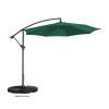 Villacera 10' Offset Outdoor Patio Umbrella with 8 Steel Ribs and Aluminum Pole and Vertical Tilt, Green