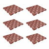 Interlocking Floor Tiles for Patio, Deck, Walkway, Garage- Multipurpose Indoor/Outdoor Flooring- 11.5 x 11.5?, Set of 6 By Pure Garden (Terracotta)
