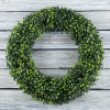 Boxwood Wreath, Artificial Wreath for the Front Door by Pure Garden, Home D�cor, UV Resistant - 19.5 Inches