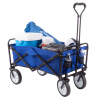 Collapsible Utility Wagon with Telescoping Handle ? Heavy Duty Folding Wheeled Cart for Camping, Gardening, Landscaping and Shopping by Pure Garden