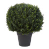 Artificial Cypress Topiary-23? Ball Style Faux Plant in Sturdy Pot-Realistic Indoor or Outdoor Potted Shrub-Home Decor by Pure Garden