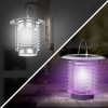 LED Lantern & Bug Zapper- 2-in-1 Portable Ultraviolet Lamp, Fly Trap Mosquito Repellant- Solar Powered & Rechargeable Indoor Outdoor by Pure Garden
