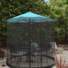 Patio Umbrella Mosquito Net- Bug Screen for 9? Patio Table Umbrellas & Furniture- Zippered Mesh Enclosure Cover with Weighted Netting by Pure Garden