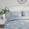 Comforter Set with Exclusive Stargaze Design- 3 Piece Full/Queen Bed Set With 2 Shams, Geometric Pattern, Reversible, By Yorkshire Home (Blue)